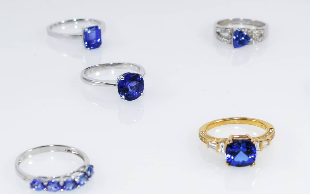 Picture of Tanzanite jewelry, Tanzanite rings