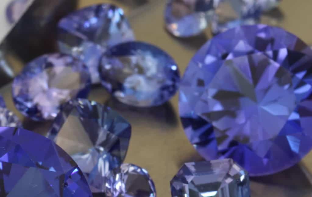 Many beautiful Tanzanite stones