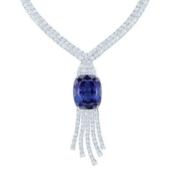Beautiful Tanzanite in necklace