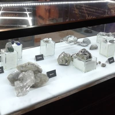 Different Tanzanite stones being showcased