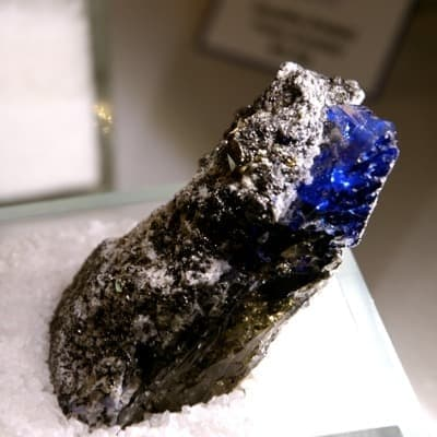 Tanzanite stone showcased at Tanzanite museum