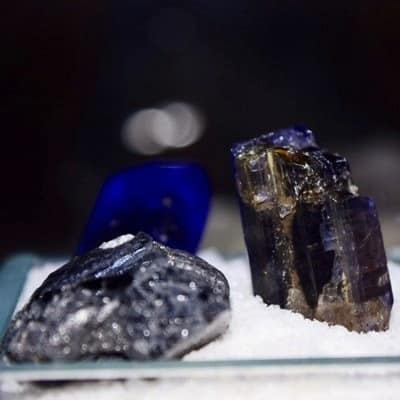 Different Tanzanite stones