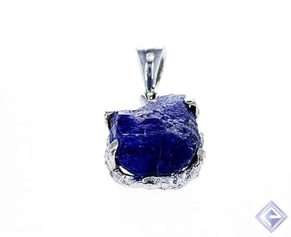 AA ROUGH CUT TANZANITE SILVER PENDANT 1