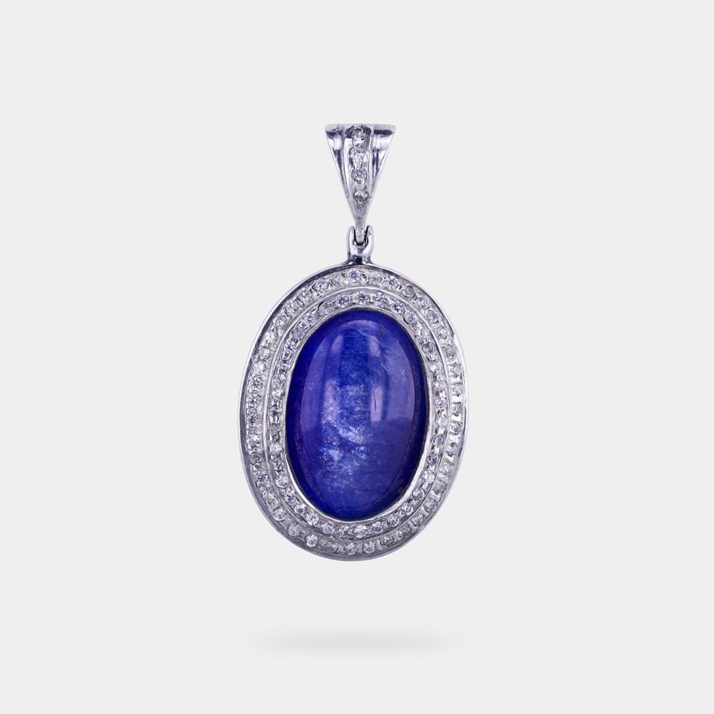 Oval tanzanite pendant