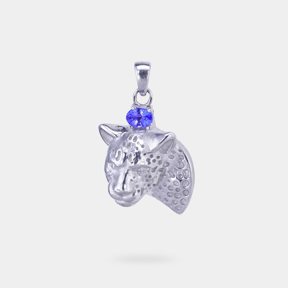 0.20 Carats Oval Shaped Pendant with Silver Metal