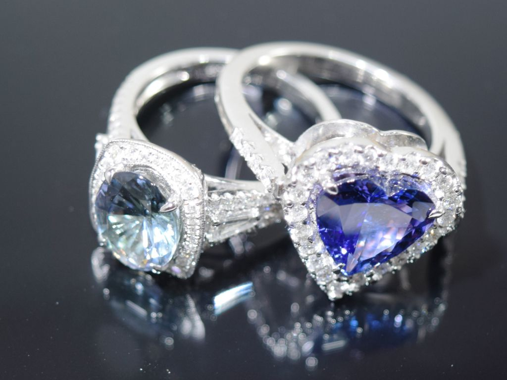 A Beautiful Tanzanite engagement ring