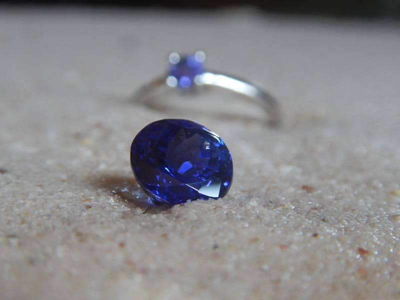 Tanzanite price for ring has changed over time