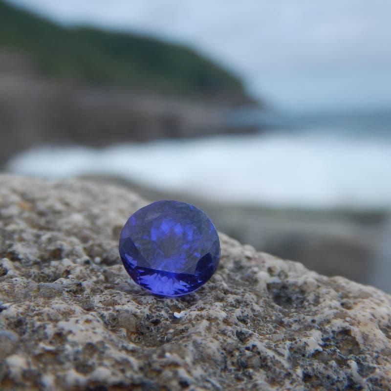 Blue gemstone with high tanzanite value per carat